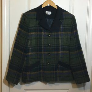 Henry Lee Plaid Equestrian Style Jacket Size 14